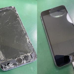 ホームボタンが取れそうなiPhone6splus