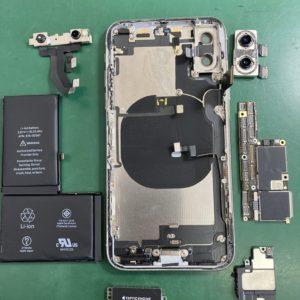iPhoneXのドックコネクター交換